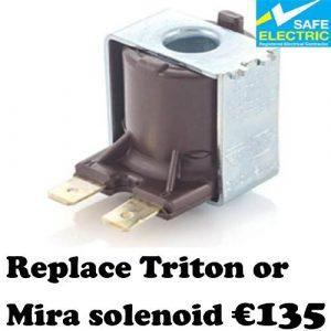 Replace Triton or Mira solenoid -1